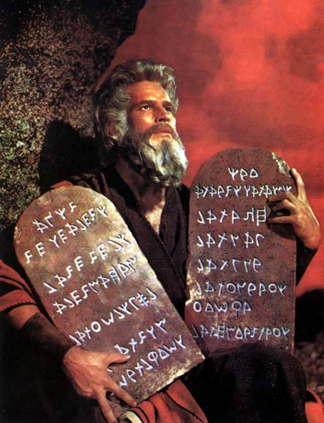 MOSES AND THE FIRST TOP TEN LIST