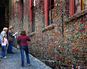 Post Alley's Famous Gum Wall
