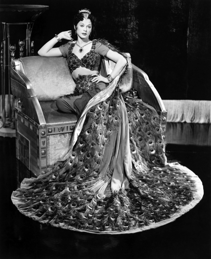 Hey There Delilah, Hedy Lamarr decked out as the vixen from the Opera Samson and Delilah