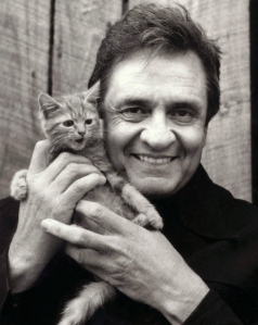 Johnny Cash Holding a Kitty Cat