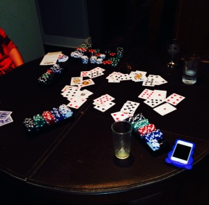 THE TABLE FROM A RECENT GREENBEAN POKER NIGHT