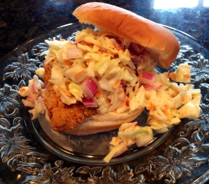 FISH AND SLAW SANDWICH