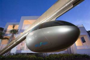 It Is Called Skytran.  Cool.