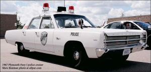 The Classic Police Car.  This 1967 model, at 11 years old, would have been about right for Deep Cove