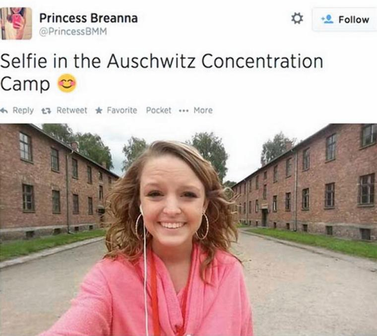 This girl has received death threats because of this selfie.  That makes no sense.