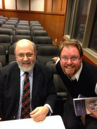 Me and N. T. Wright at his book signing on the U.T. Campus.