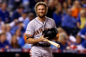 Hunter Pence--A name and look made for a novel action hero.